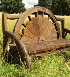 unusual garden bench
