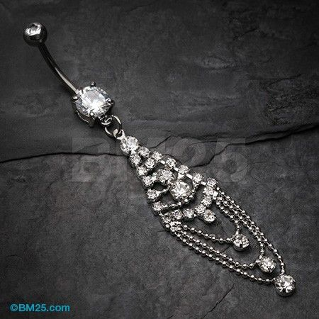 Grand Sparkle Chandelier Belly Button Ring Belly Button Jewelry Belly Piercing Jewelry Belly Button Rings