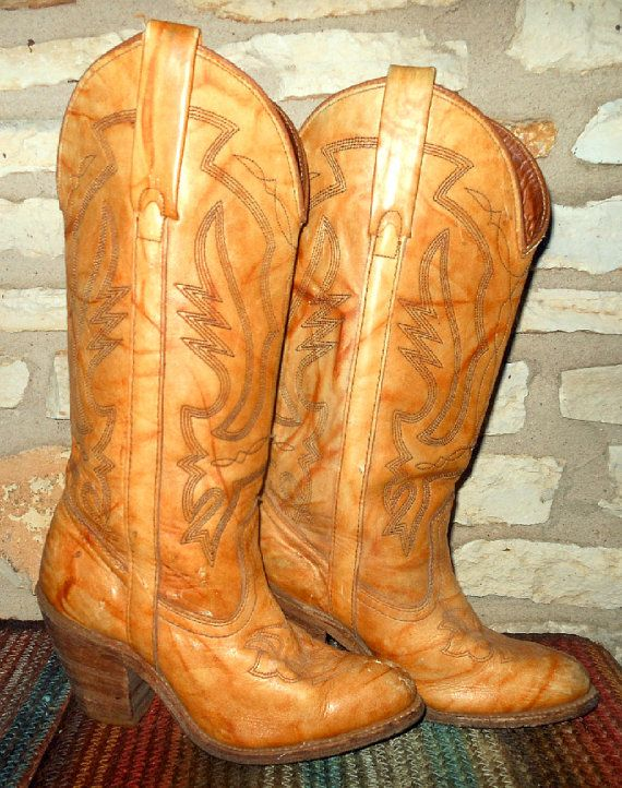3b27372beed Vintage Tall Tan Miss Capezio Cowgirl Western Boots size 6M ...