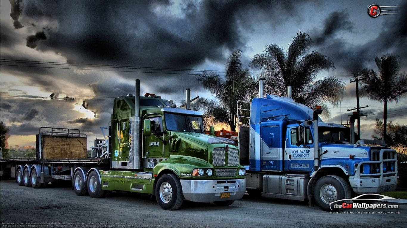 Kenworth Trucks Semi Trailer With Images Kenworth Trucks