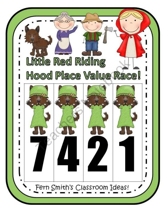 Place Value Race Game Little Red Riding Hood Theme By Fern Smith product from Fern-Smith on TeachersNotebook.com