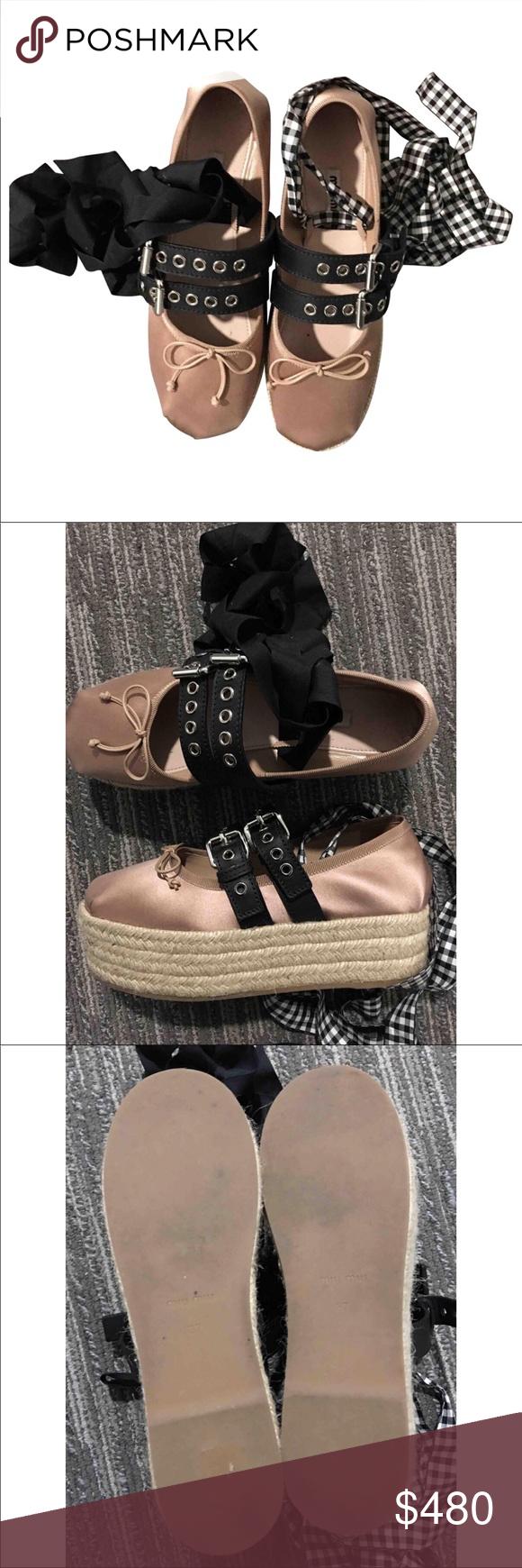ae115494b30c Miu Miu ballerina platform shoes authentic Worn once. In great condition. Miu  Miu Shoes Espadrilles