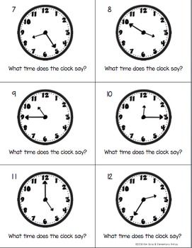 Telling Time Pack Worksheets Game  Task Cards  Telling Time