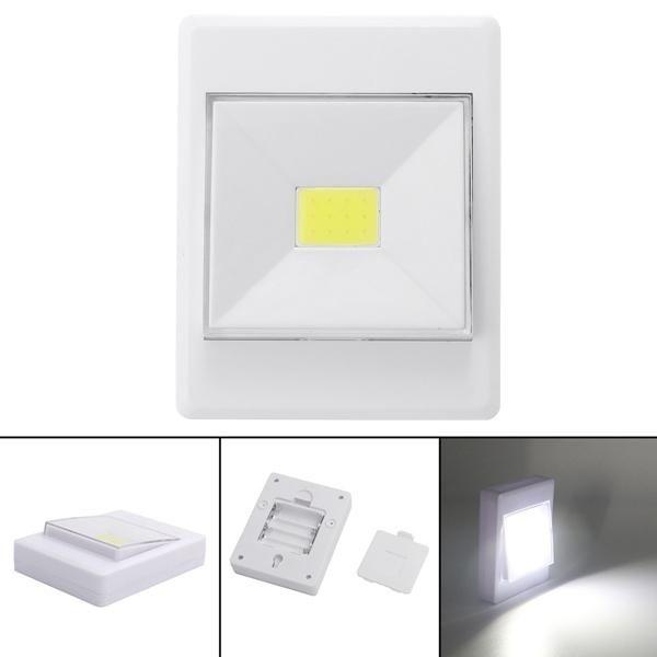 Battery Powered Wireless Cob Led Closet Night Light Lamp Switch With Magnetic Lamp Switch Night Light Lamp Light
