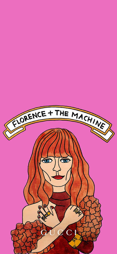 Gucci inserts picture luxury Florence + The Machine