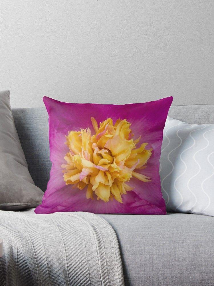Peony Throw Pillow By Eric Nagel Dekokissen Dekoration Und