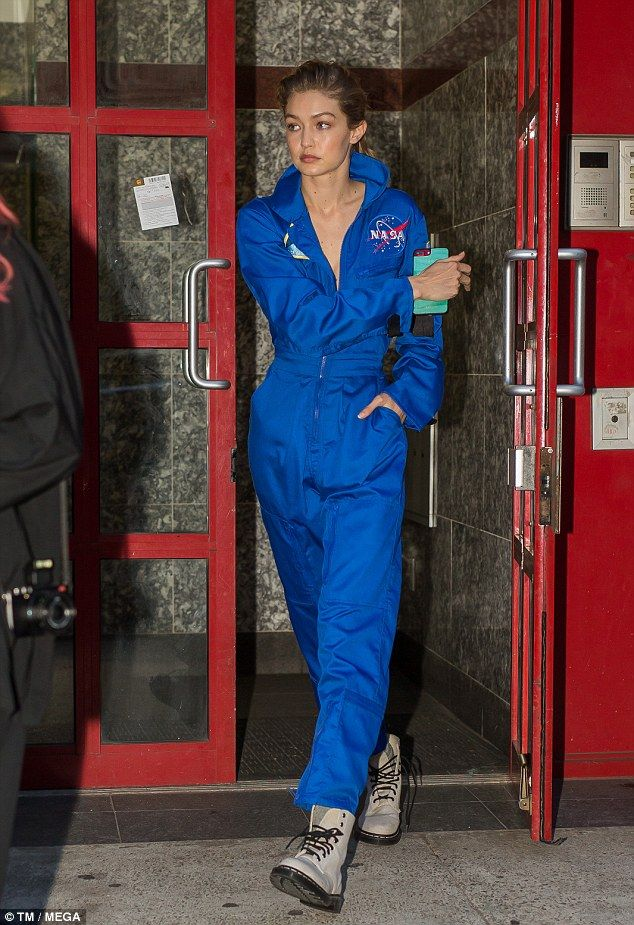 300fa33a8582 Go space age in a NASA jumpsuit from Alpha Industries like Gigi  DailyMail