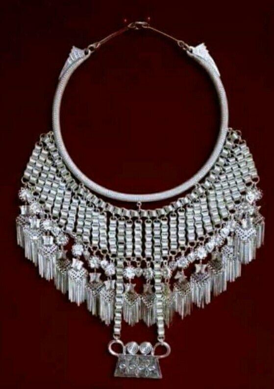 Hmong enamel vintage sterling silver bracelet cuff Hmong t