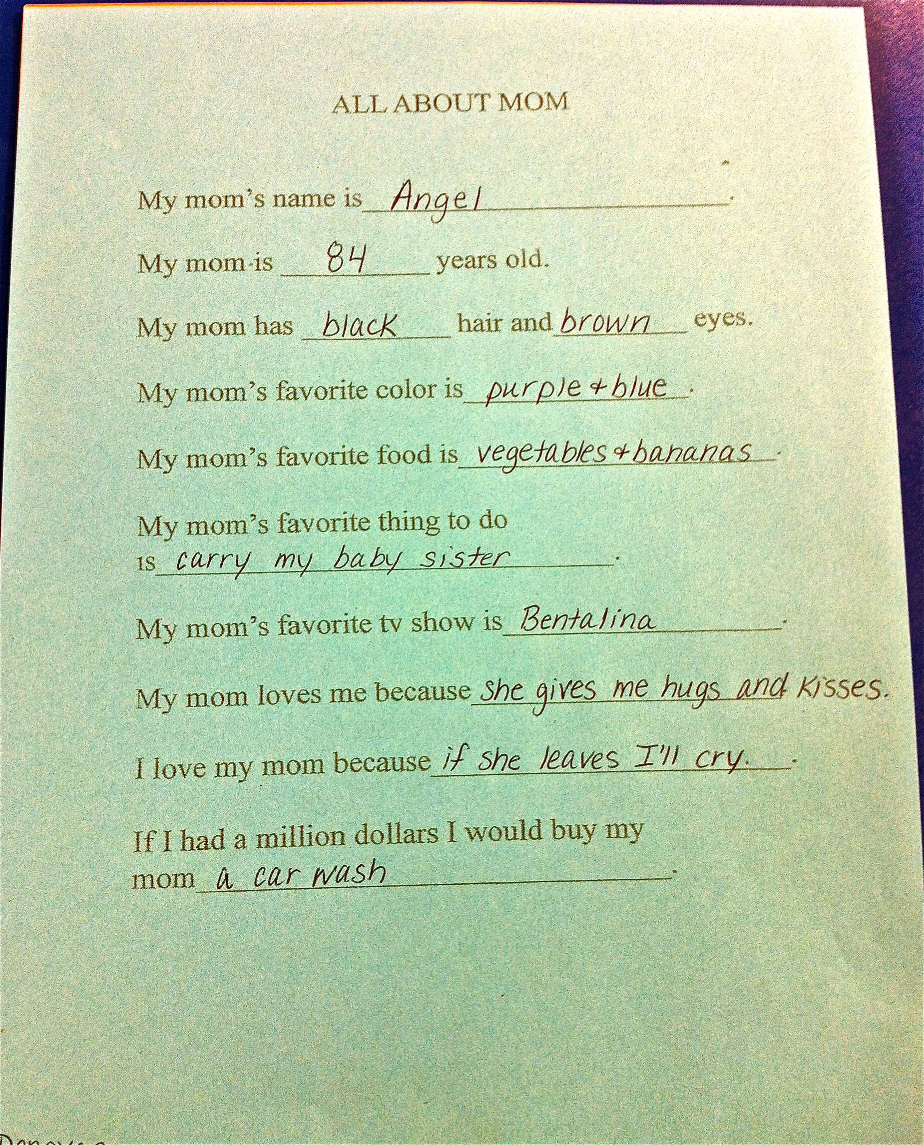 Mother\'s Day paper from preschool:) | Mother\'s Day projects for ...