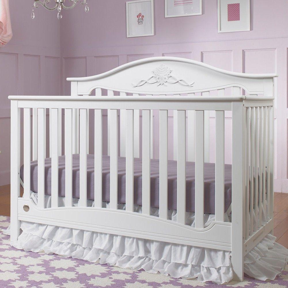 Fisher Price Mia 4 in 1 Convertible Crib in Snow White