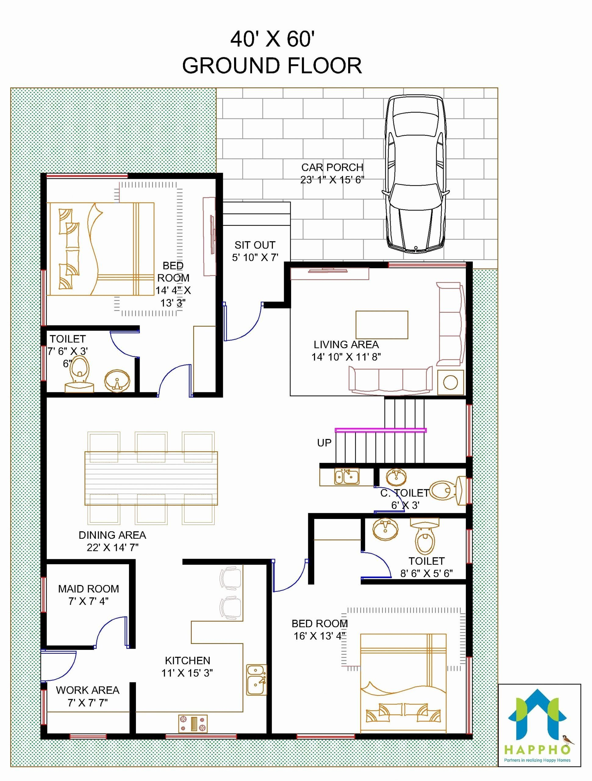 60 X 30 House Plans Elegant Floor Plan For 40 X 60 Feet Plot Square House Plans Unique Floor Plans Beautiful House Plans