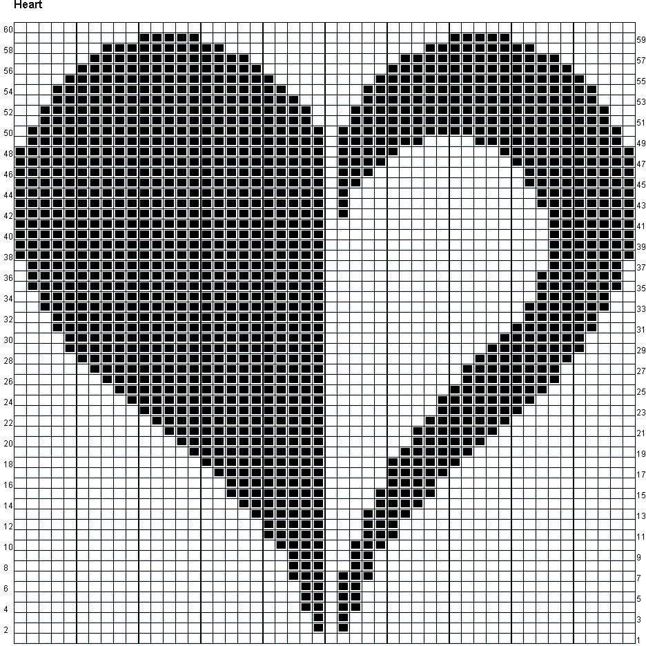 схема узора сердечко картинка приходит