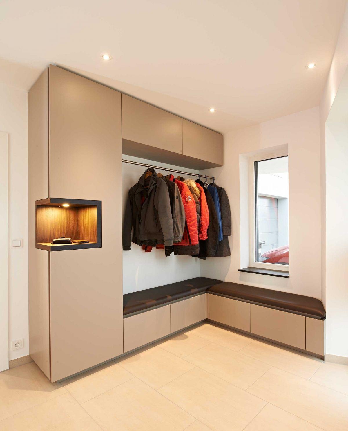 Flur 1 Einzimmerwohnung Einbauschrank Flur Design