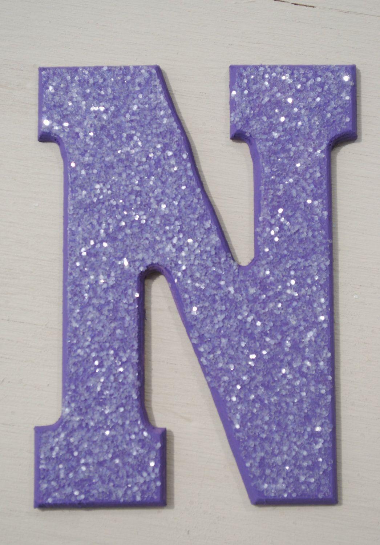 Purple Glitter Wall Letters Letter Wall Lettering