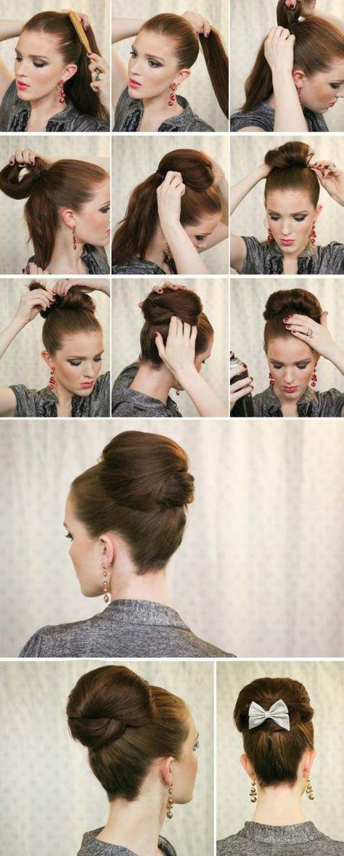 Hochsteckfrisur Elegant Dutt Socken Binden Ideen Braids Hair
