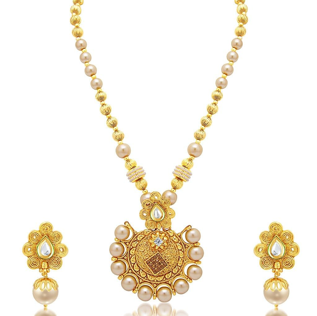 f899f1047d4243 Buy Sukkhi Ethnic Jalebi Gold Plated Ad Necklace Set For Women online. ✯  100% authentic products, ✯ Hand curated, ✯ Timely delivery, ...