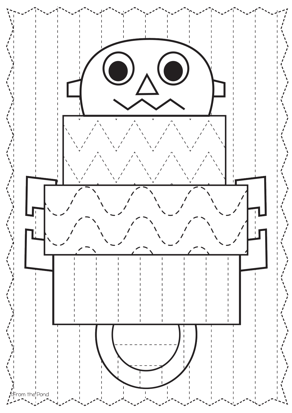 Free Robot Big Shape Tracing Page