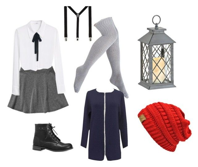 """""""Over the garden wall Wirt genderbend"""" by dorkyquinn on Polyvore featuring Abercrombie & Fitch, Avenue, MANGO, Steve Madden and ASOS"""