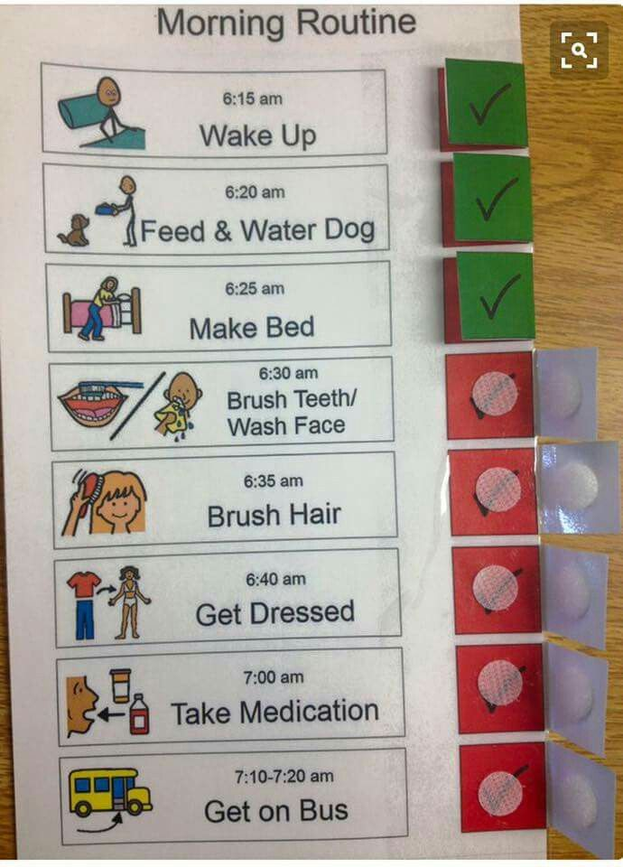Photo of Routine velcro checklist                                                        …