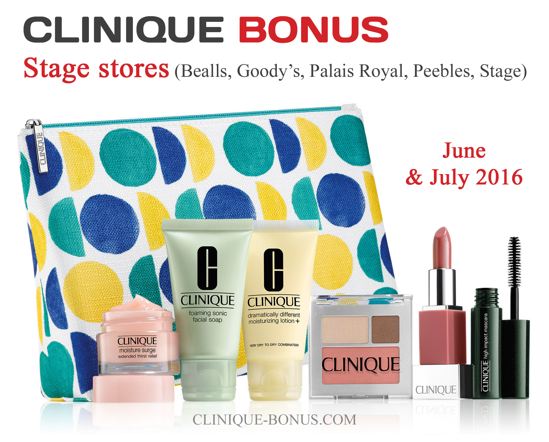 This is the Clinique gift you can get from Stage stores