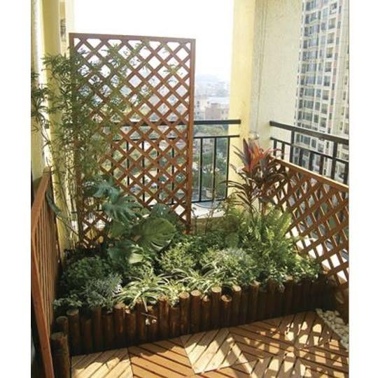 Jardim na sacada. | Decorações exteriores, Jardim de ...
