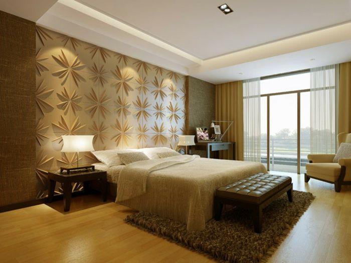 Wandgestaltung Im Schlafzimmer 3d