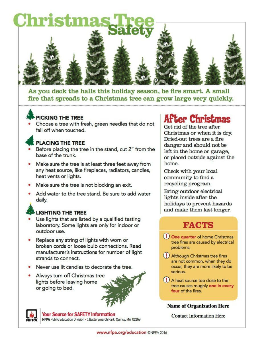 (3) Twitter Holiday lights, Fire safety tips, Winter safety
