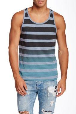 Tie Dye Stripe Tank