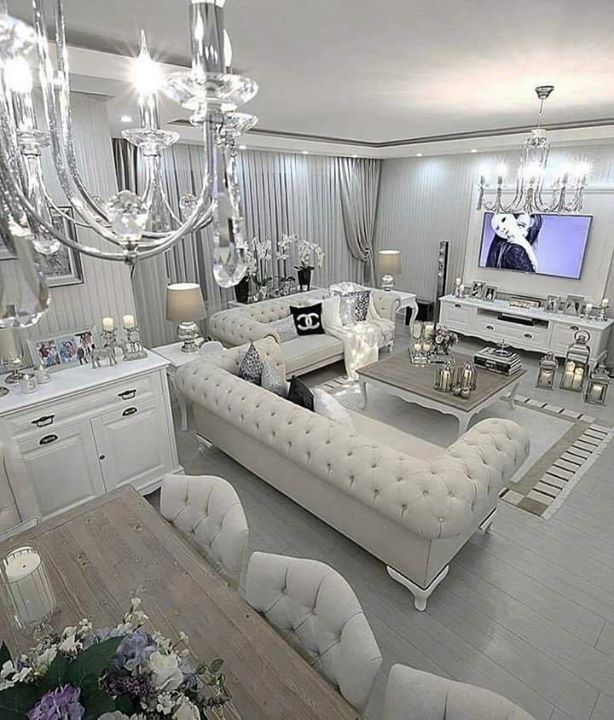 Home Decor image by Men Cave   Modern glam living room ...