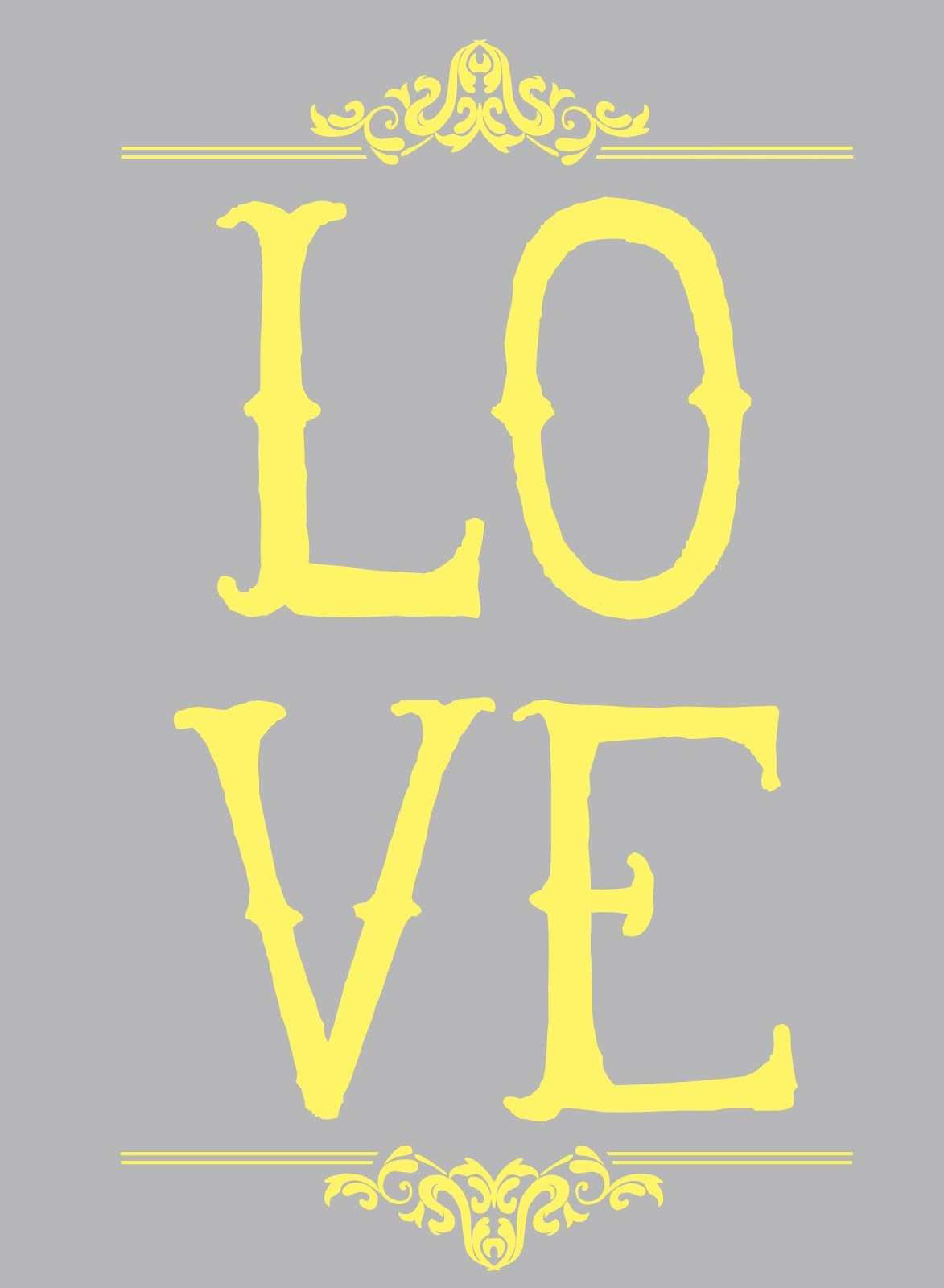 grey/yellow printables | Poster | Pinterest | Grey yellow, Gray and ...
