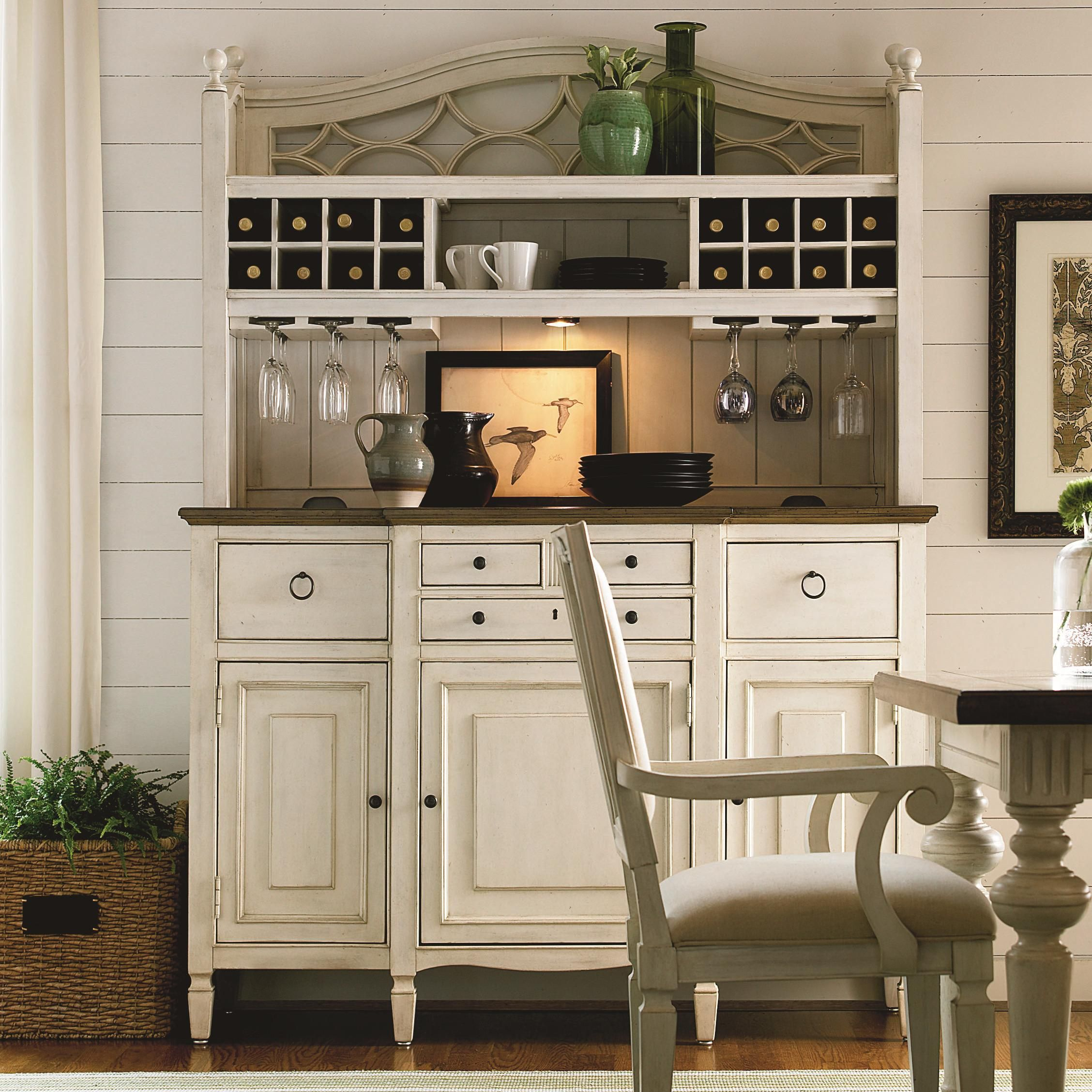 Summer Hill 2 Pc Serving Buffet And Bar Hutch With Wine Storage By Universal At Baers Furniture