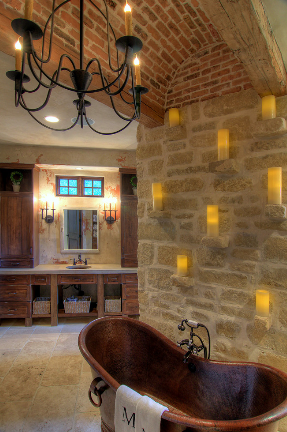 A custom Bell Chandelier with Laura Lee Designs sconces in the ...