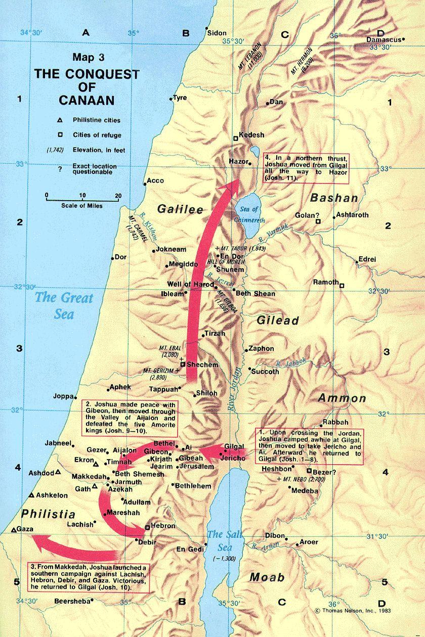 canaan-map-palestine-joshua | Bible Images | Pinterest ...
