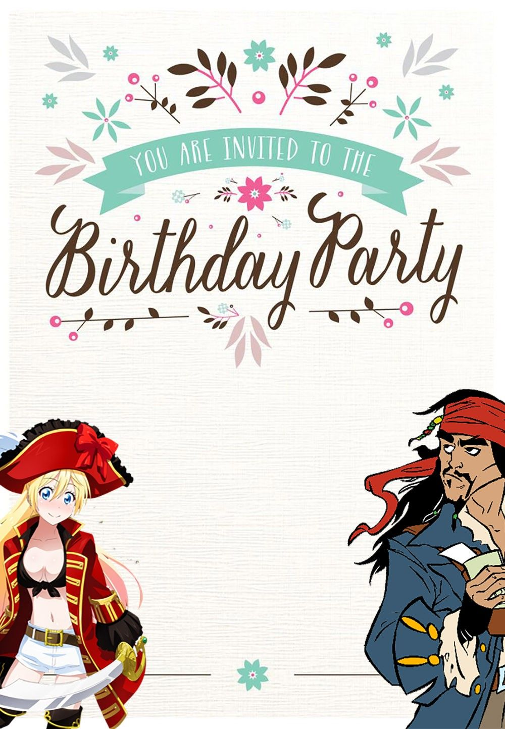 Free Printable Pirate Birthday Invitation Card | Coolest Invitation ...