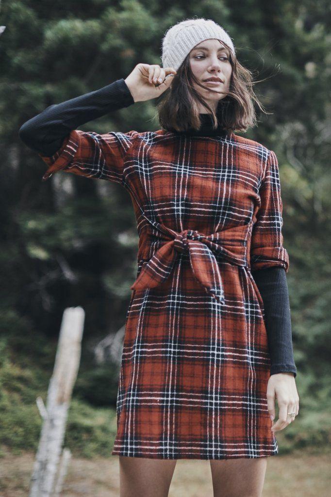 Sasha Dress (Red Wool Plaid) – Occasion – Amour Vert