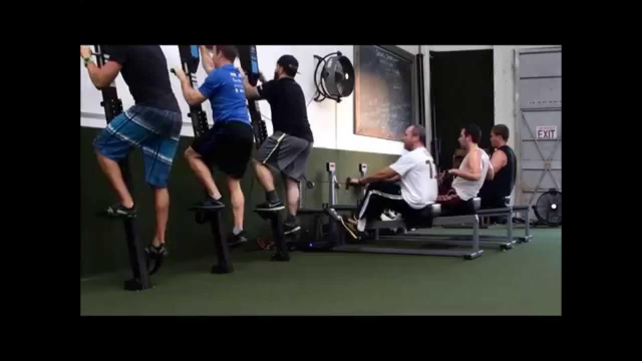 Group Training On Wall Mounted Versaclimbers And Versarowers More