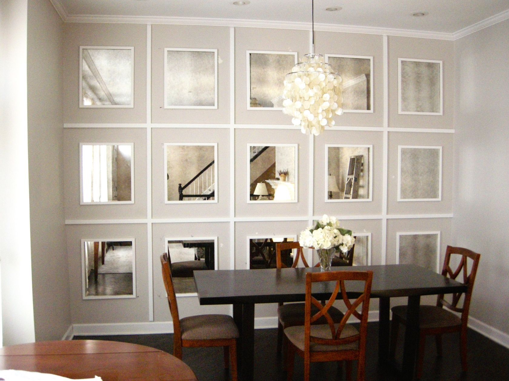 Mirrored Wall Antiqued Mirrors Mirror Dining Room Dining Room
