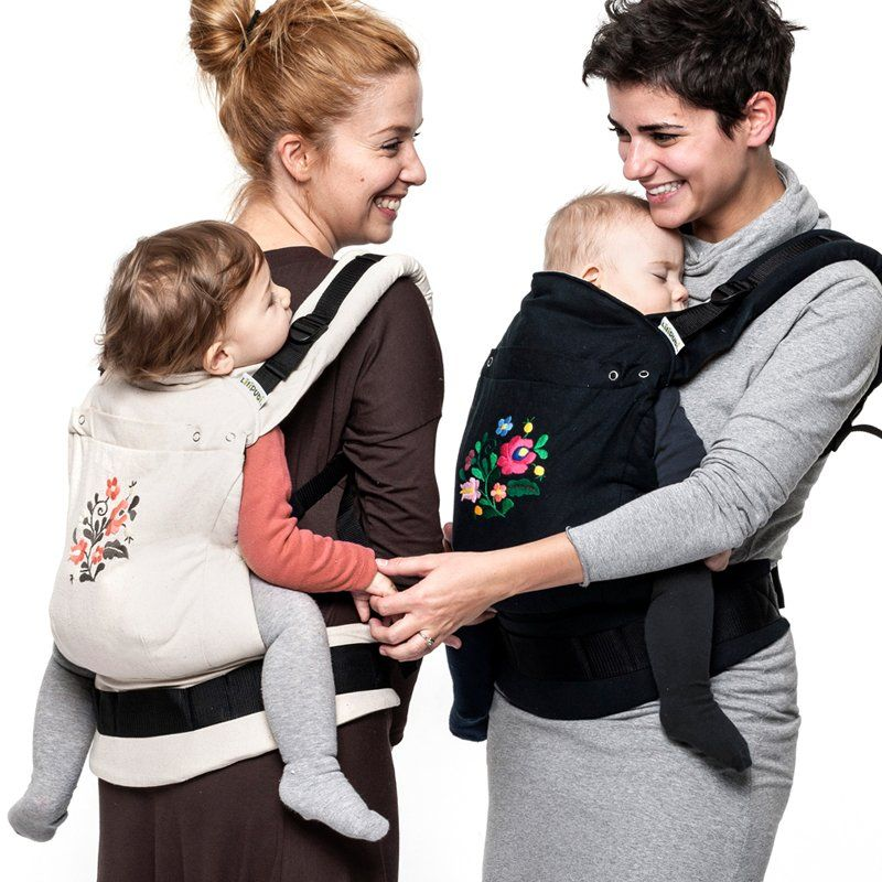 e88f5346207 Liliputi® Soft Baby Carrier - Noir MATYÓ Limited edition 100% handmade  embroidery. Design