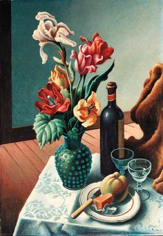 THOMAS HART BENTON The Blue Vase - ART Still Life | Pinterest