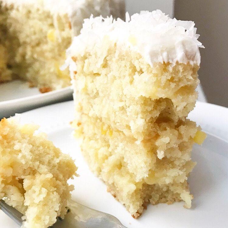 Coconut Pineapple Cake, Pineapple