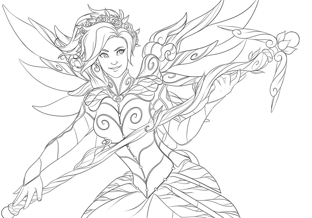 Resultado de imagen para overwatch coloring pages mercy for Overwatch coloring pages