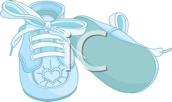 Iclipart Blue Baby Shoes On White Background Baby Boy Scrapbook Clipart Baby Babyschuhe
