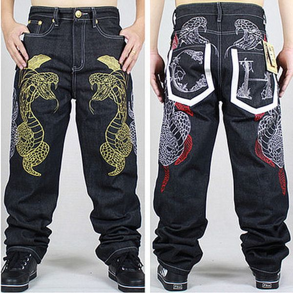 American Style Brand Mens Baggy Jeans Loose Plus Big Size Jeans Men Hip Hop  Jeans Long 87f8062cc9e