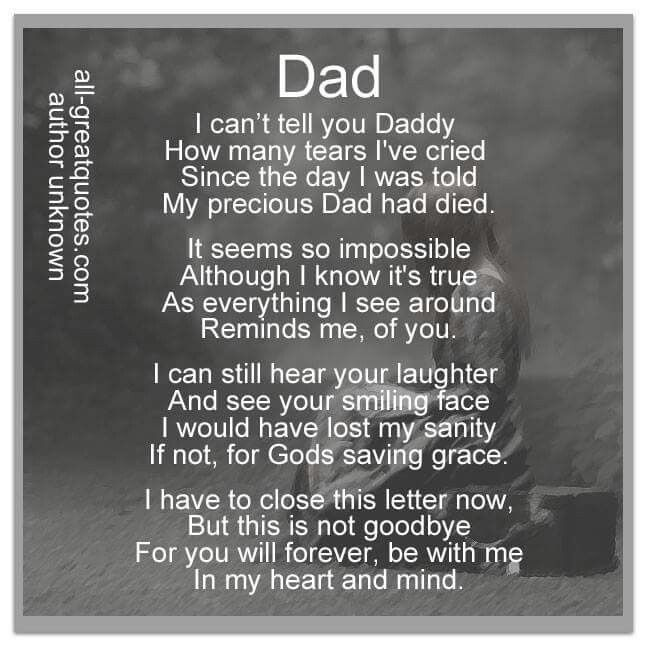 Memorial Poems for Dad   my dad my father is a man like no other ...