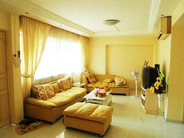 Exceptionnel This Room Has Monochromatic Color Harmony. The Main Color Is Yellow And It  Gives A