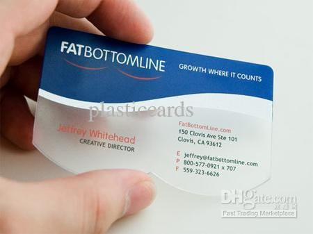 Plastic Clear Card,Clear Business Card,Iso Standard 86x54mm X0 - business credit card agreement