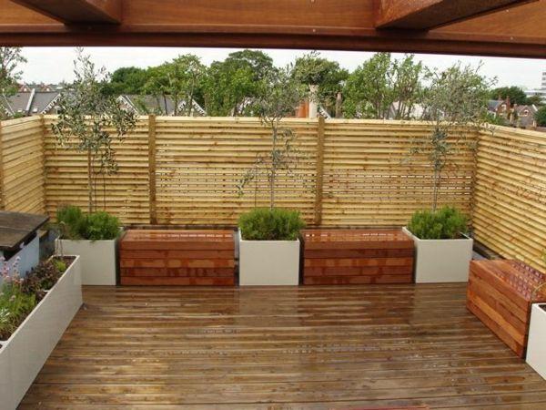 Terrassensichtschutz Ideen, Bilder und 20 inspirierende