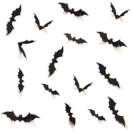 HOZZQ DIY Halloween Party Supplies PVC 3D Decorative Scary Bats Wall