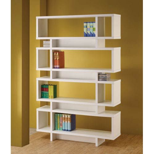 37 off white contemporary open bookcase by coaster furniture the rh pinterest com