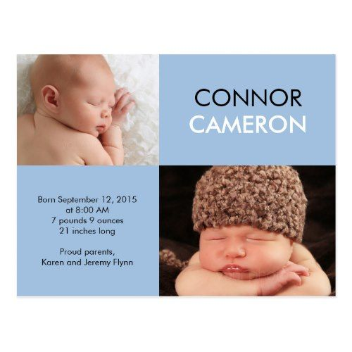 sweet simplicity birth announcement blue pinterest baby girl